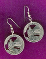 District of Columbia Quarter Earrings