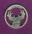 Stag Quarter Cut Out, Pendant, or KeyRing