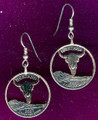 Montana Quarter Cut Out Earrings