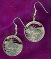 North Dakota Quarter Earrings