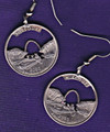 Missouri Quarter Earrings