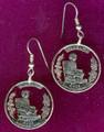 Alabama Quarter Cut-Out Earrings