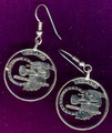 Indiana Quarter Earrings