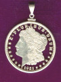 Morgan Dollar Complete Cut Out Pendant or Display
