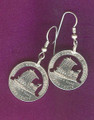 2004 Keel Boat Nickel Cut-Out Earrings
