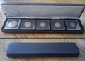 Black Leatherette Box For 5 Coins