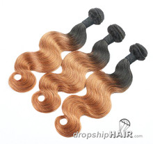 Ombre 1BT-30 / 1B Root Hair Weft 2-Tone Color