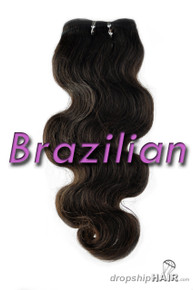 SAMPLE Brazilian Virgin Double Drawn Royal Hair Weft