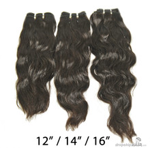 "SAMPLE 3pc Brazilian Virgin Weft Bundles 12"" / 14"" / 16"" 110g"