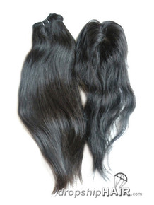 "3.5"" X 4"" Virgin Indian Straight Closure"