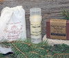 Sample choices for gift set, also includes a handcrafted washcloth.