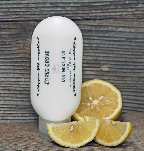 """Goat Milk Lotion """"Citrus Grove"""" Essential Oil Tottle, 3.5 oz."""