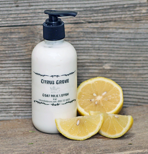 "Goat Milk Lotion ""Citrus Grove"" Essential Oil Pump (8 oz) - Out of Stock"