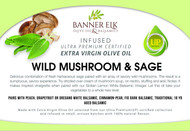 Wild Mushroom & Sage - Infused Ultra Premium Certified Extra Virgin Olive Oil