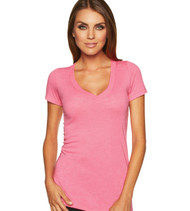 Next Level 6740 Ladies' Tri-Blend Deep V-Neck Tee