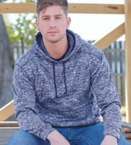 8613 J AMERICA MEN'S COSMIC POLYESTER FLEECE HOODED SWEATSHIRT
