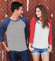 6051 NEXT LEVEL UNISEX TRI-BLEND 3/4 SLEEVE RAGLAN