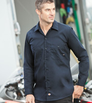 LL535 Dickies Men's Industrial Long Sleeve Work Shirt