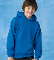 P473 HANES YOUTH COMFORTBLEND ECOSMART PULLOVER HOOD