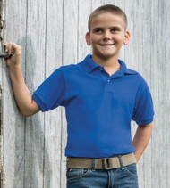 054Y HANES YOUTH COMFORTBLEND ECOSMART JERSEY POLO