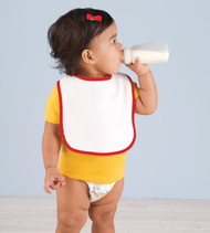1003 RABBIT SKINS INFANT TERRY SNAP BIB