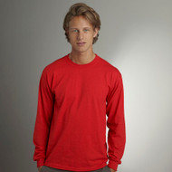 8400 GILDAN DRYBLEND ADULT LONG SLEEVE TEE  (Red)
