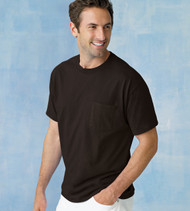5590 HANES ADULT TAGLESS T-SHIRT WITH POCKET