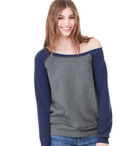 7501 Bella + Canvas Women's Sponge Fleece Wide Neck Sweatshirt
