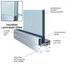 Laminated Hurricane Impact Resistant Glass is comprised of two sheets of glass bonded together with a protective interlayer. Laminated glass is the primary hurricane barrier used in impact resistant windows. Laminated glass is also used in the windshields of cars.   Hurricane impact resistant products use a thicker sandwich of glass and special film interlayer to make the glass unit stronger. Laminated glass also eliminates 99% of UV rays, reduces noise transmission, provides enhanced security protection for your home, and reduces the air conditioning and heating portion of your energy bill.