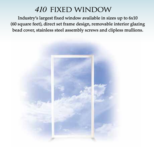 CGI Estate Designer Fixed Window Series 238 CGI Estate Collection rectangular fixed hurricane windows are designed to match the sightlines of our casement and project-out hurricane windows. Once installed, these hurricane windows appear identical to the impact resistant casement and project-out windows when viewed from the outside. From the inside, the only noticeable difference is the lack of hardware or screens. There are less expensive ways of manufacturing a fixed hurricane window, but consistent with CGI's heritage our Estate fixed windows have been designed to provide a strong, high quality and aesthetically pleasing choice.