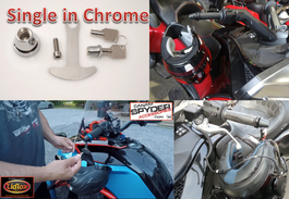 CHROME Lidlox Helmet Lock for Can Am Spyder (SINGLE)