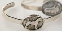 Sterling silver Jack Russell Terrier bracelet.