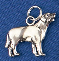 Sterling Silver Labrador retriever Charm or Pendant