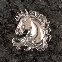Sterling Silver Majestic Horse Head Pin or Pendant