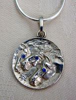 Sterling Silver Pharaoh's Horses Pendant