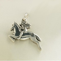 Sterling Silver Ride for the Cure Charm or Pendant