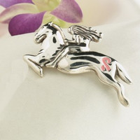 Sterling Silver Ride for the Cure Pin