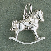 Sterling Silver Rocking Horse Charm or Pendant