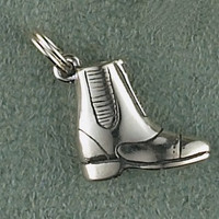 Sterling Silver Small Paddock Boot Charm or Pendant