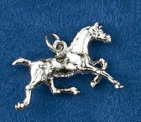Sterling Silver Trotting Horse Charm or Pendant