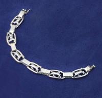 Sterling Silver Trotting Horses in Ovals Bracelet