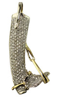14k Gold and Diamond Boot Pendant
