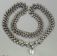 Victorian C.1895 Ornate Silver Book Chain Style Collar Necklace