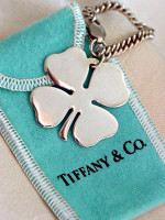 Vintage Tiffany 4-Leaf Clover Key Chain