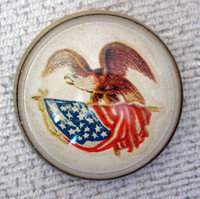 White Patriotic Bridle Rosette as Pin