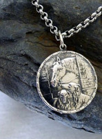 Vintage Medal Pendant of Horse and Dogs