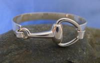 Designer Half Snaffle Bit Bangle Bracelet