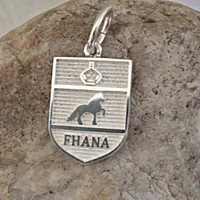 Sterling Silver Friesian Horse Breed Charm or Pendant