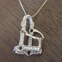 Large 14k Yellow or White Gold Halter Pendent