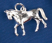Sterling Silver Dressage Horse Charm